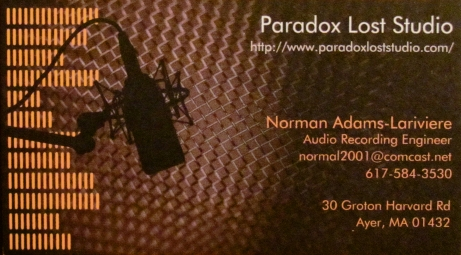 Studio business cards   Paradox Lost Studio